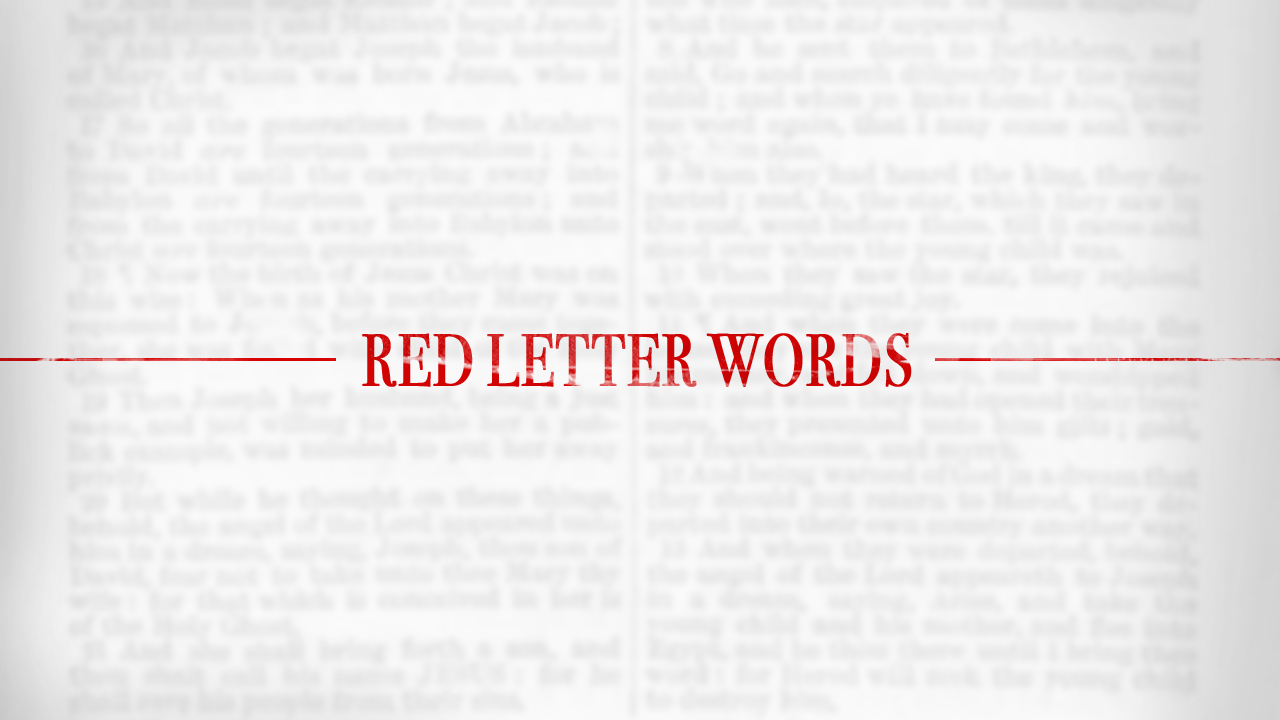 Red Letter Words Series