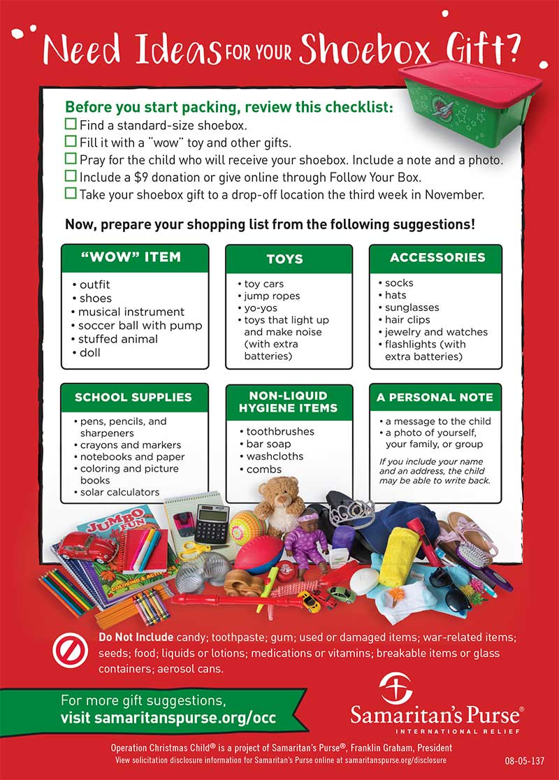 2018 Operation Christmas Child - Nikiski Nazarene Church